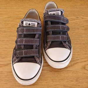Converse All Star Black Velcro Sneakers Kids 2